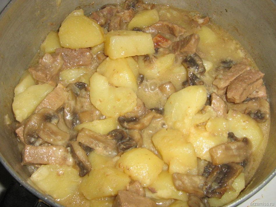 Грибыы с картофелем